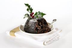 圣诞节典雅的布丁 免版税库存照片