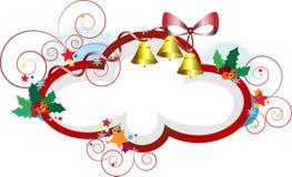 圣诞节典雅的框架礼品明信片 免版税库存图片