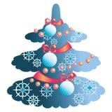 圣诞节典雅的结构树 免版税图库摄影