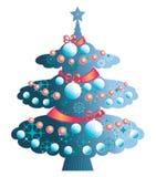 圣诞节典雅的结构树 库存照片