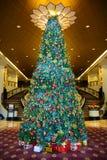 圣诞节典雅的结构树 库存图片