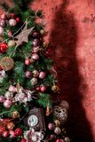圣诞节内部背景 免版税图库摄影