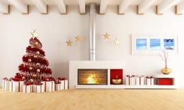 圣诞节内部 免版税库存照片