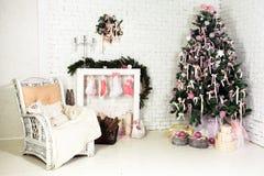 圣诞节内部 免版税库存图片
