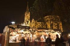 圣诞节军用餐具在布达佩斯 库存图片