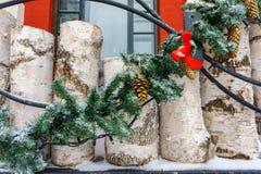 圣诞节冬天外部装饰 图库摄影