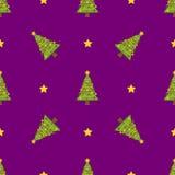 圣诞节冬天无缝的样式 向量例证