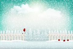 圣诞节冬天风景背景 库存图片