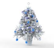 圣诞节冰冷的结构树 免版税库存照片