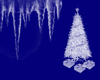 圣诞节冰柱 库存图片
