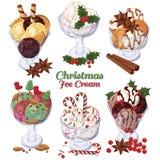 圣诞节冰淇凌 库存照片