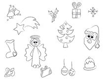 圣诞节冲程 免版税库存图片