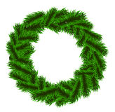 圣诞节冷杉木花圈 免版税库存照片