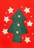 圣诞节冷杉木雪花星形 免版税库存图片