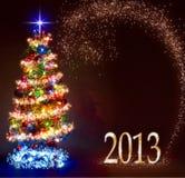 圣诞节冷杉木 免版税库存图片