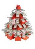圣诞节冷杉礼品 免版税库存照片