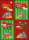 圣诞节减价广告横幅 免版税图库摄影