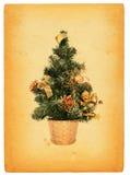 圣诞节减速火箭的结构树 免版税库存照片