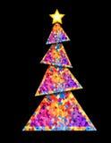 圣诞节几何结构树 免版税库存照片