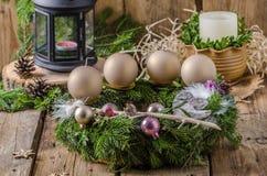圣诞节出现花圈 库存照片