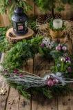 圣诞节出现花圈 库存图片