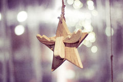 圣诞节分数维图象晚上星形 库存图片