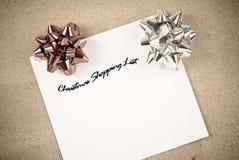 圣诞节列表购物 免版税库存照片