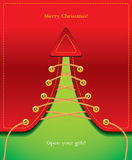 圣诞节创造性的礼品喜欢结构树 库存图片