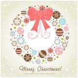 圣诞节创造性的设计花圈 库存照片