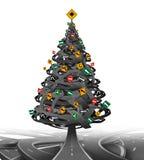 圣诞节创造性的结构树 库存例证