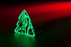 圣诞节剪切纸张结构树 库存图片