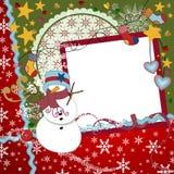 圣诞节剪贴薄格式 免版税库存图片