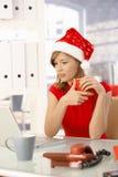 圣诞节办公室时间 免版税图库摄影