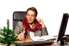 圣诞节办公室 免版税库存照片