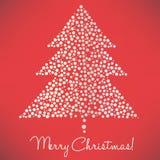 圣诞节加点典雅的结构树 免版税库存照片