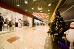 圣诞节包括的冷杉装饰品存储结构树 免版税图库摄影