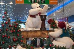 圣诞节北极熊 免版税库存照片