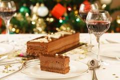 圣诞节午餐桌 库存图片