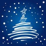圣诞节华丽例证结构树 免版税库存照片