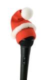 圣诞节卡拉OK演唱 免版税图库摄影