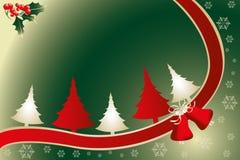 圣诞节卡片材料的例证 库存图片