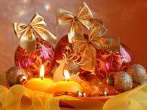 圣诞节卡片材料的照片 免版税库存照片
