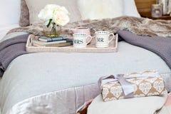 圣诞节卧室装饰 库存照片