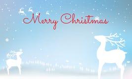 圣诞节印刷在与冬天lan的发光的Xmas背景 免版税库存图片