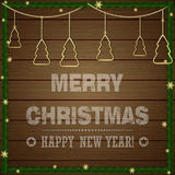 圣诞节印刷标签Xmas和新年假日desig 免版税库存照片
