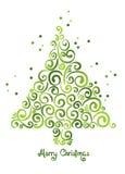 圣诞节卷曲结构树 免版税库存照片