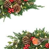 圣诞节卷毛装饰欢乐查出的丝带白色 免版税库存图片