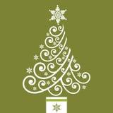 圣诞节卷质朴的结构树 免版税库存照片