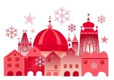 圣诞节历史城镇冬天 库存例证