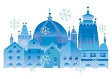 圣诞节历史城镇 向量例证
